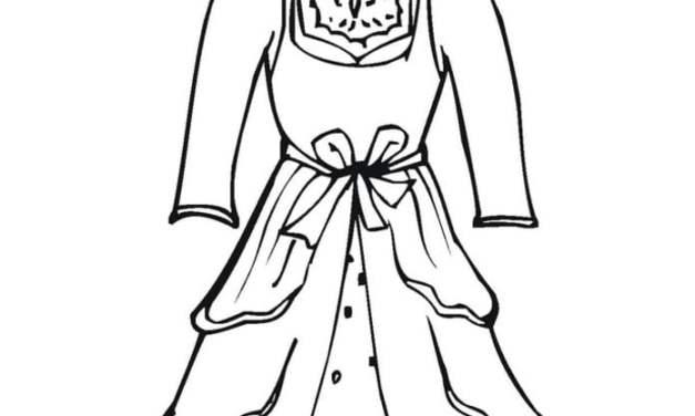 Ausmalbilder: Hochzeitskleid