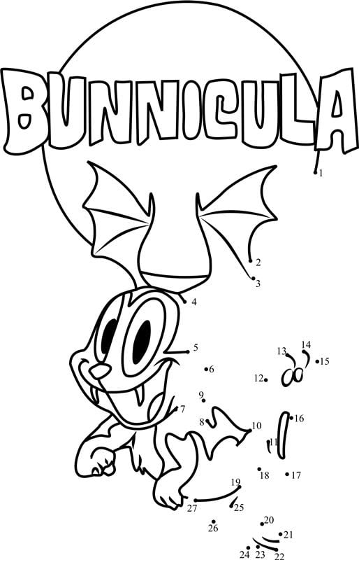 Bunnicula printable coloring page for kids and adults art
