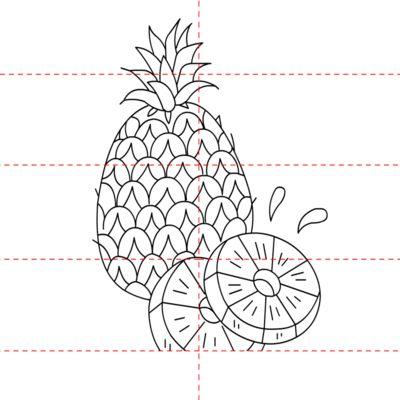 Ananas Lebensmittel Zeichnen Tutorials