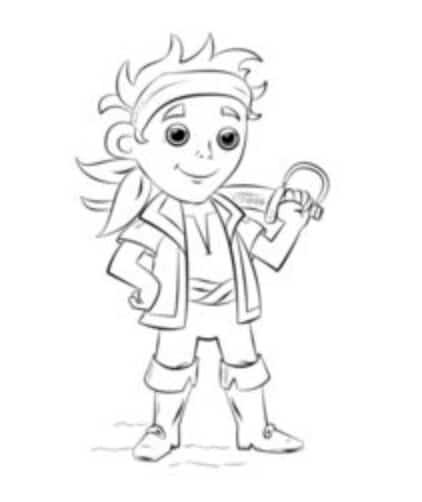 Jake Und Die Nimmerland Piraten Zeichnen Schritt Fur Schritt Tutorial Fur Kinder