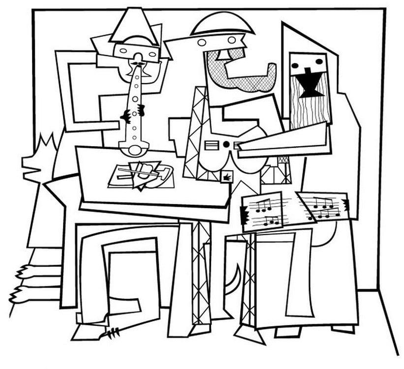 Disegni da colorare per adulti: Pablo Picasso stampabile