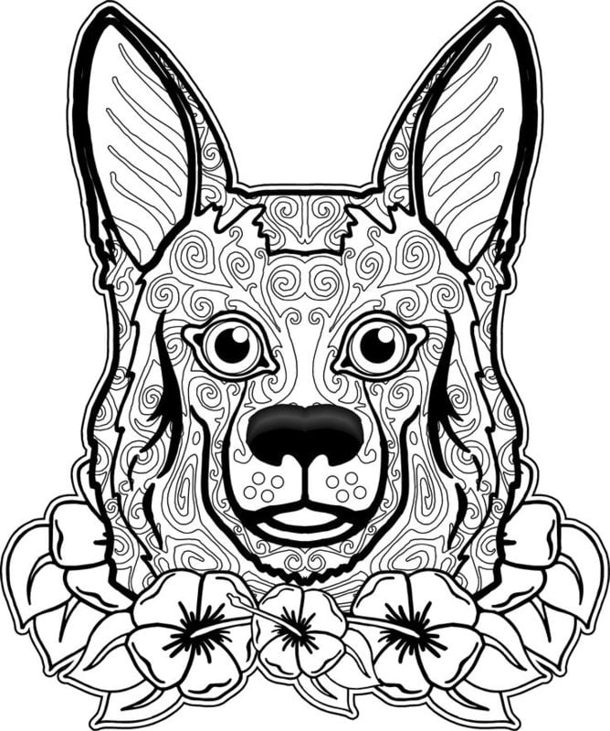 Coloring Pages For Adults Dogs Printable Free To Download Jpg Pdf