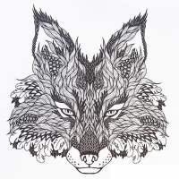 Ausmalbilder fr erwachsene: Wolf zum ausdrucken ...