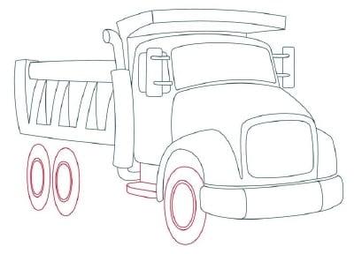 Muldenkipper Transport Zeichnen Tutorials