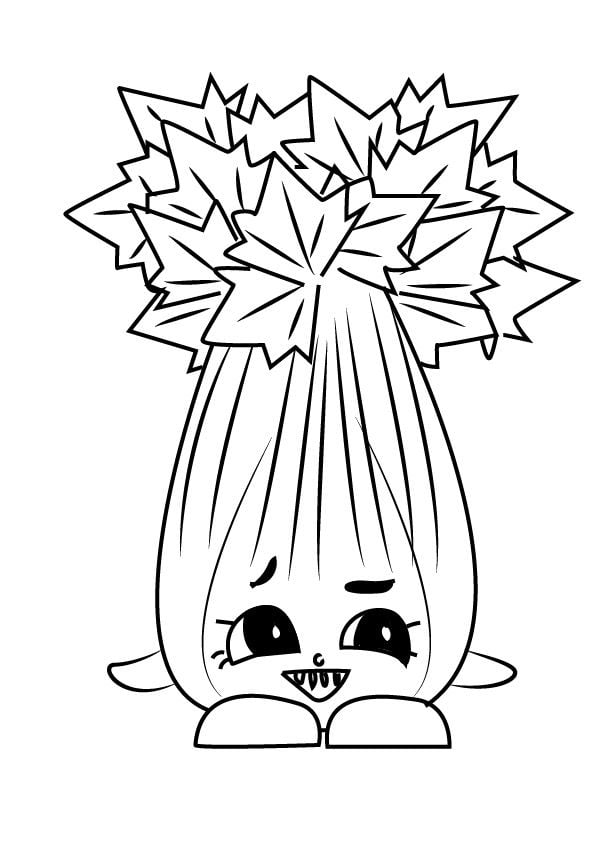 Coloring pages: Coloring pages: Celery, printable for kids