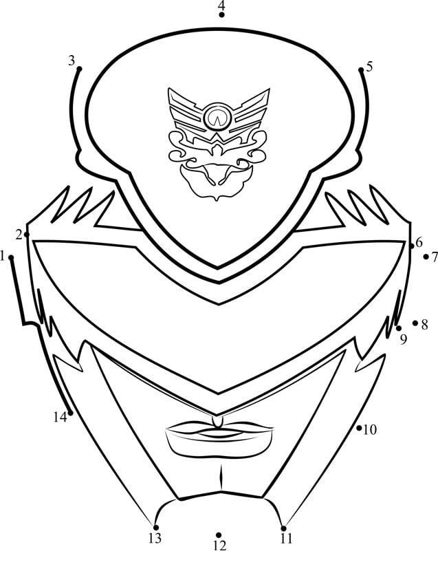 Power Rangers Punkt zu Punkt Zeichentrickfilme