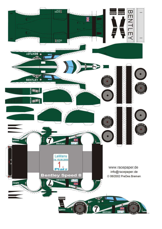 Bentley Speed 8 Bricolage en papier Voitures