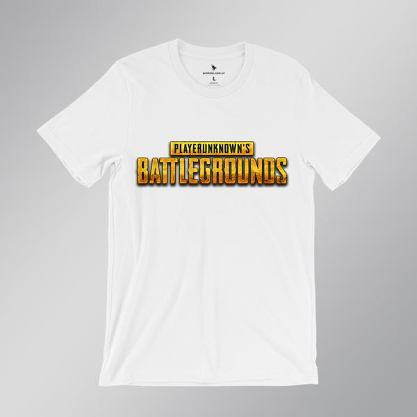 Áo game PUBG PlayerUnknown's Battlegrounds wordmark màu trắng