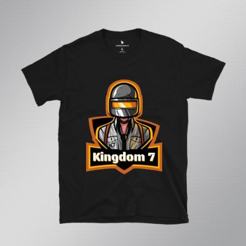 Áo game PUBG Kingdom 7 màu đen - Printme