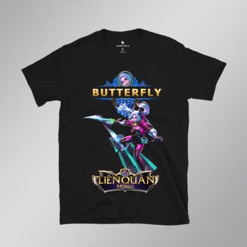Áo Thun Butterfly Technoblade - áo đen