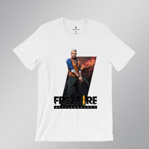 Áo thun Joseph free fire - áo trắng