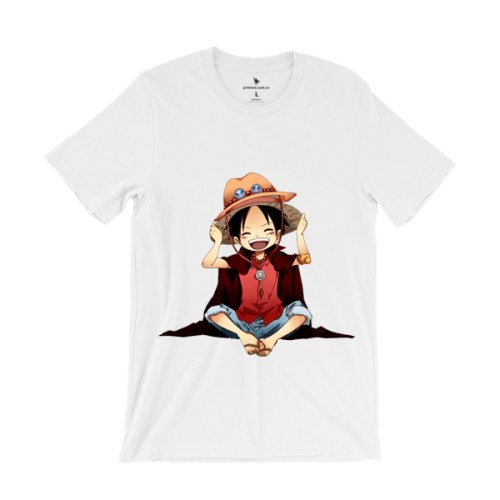 Áo Anime Monkey D. Luffy - áo trắng