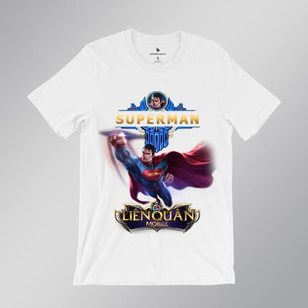 Áo Thun Superman - áo trắng