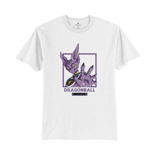 Áo anime Beerus Dragonball V1 trắng