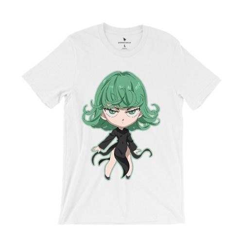 Áo anime Tatsumaki Chibi màu trắng