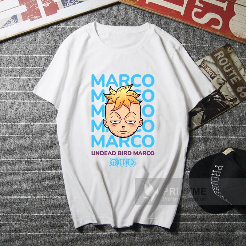 Áo Thun Marco - One Piece - áo trắng