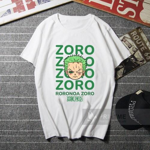 Áo Thun Zoro - One Piece - màu trắng