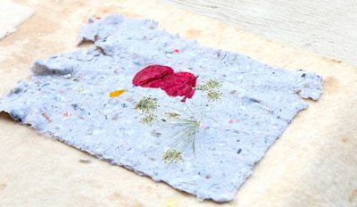 Homemade-paper-with-flowers-embeded