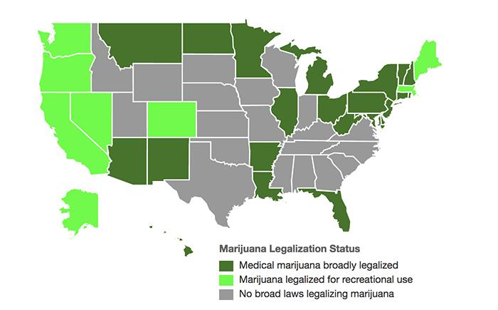 Legalized Marijuana US 2017 - print media centr