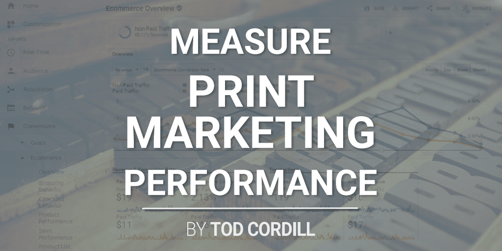 measure print marketing performance