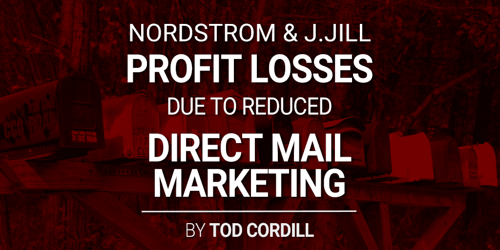 profit losses due to direct mail reduction