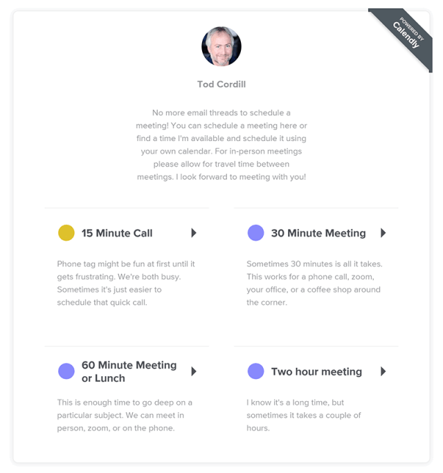calendly meeting scheduling