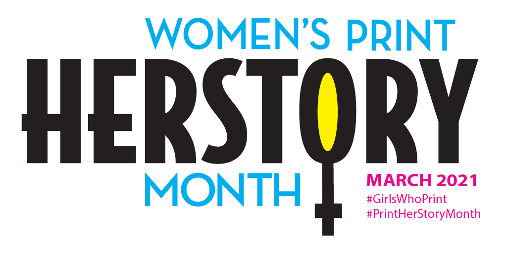 online womens history month celebration print and marketing