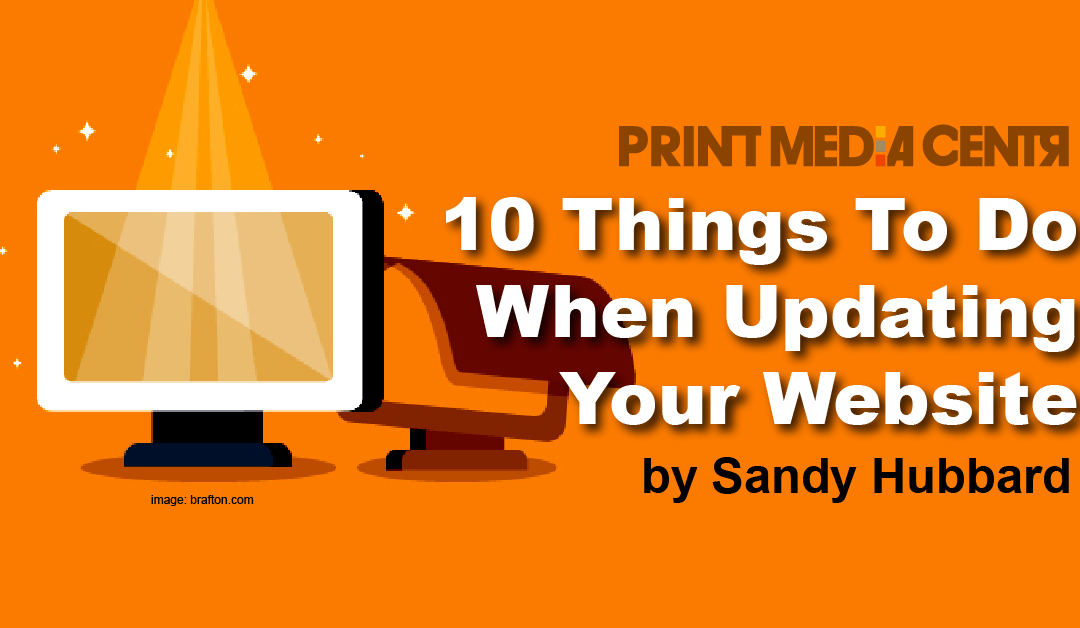 10 Things To Do When Updating Your Website