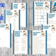 8 Cowboy Baby Shower Game Package