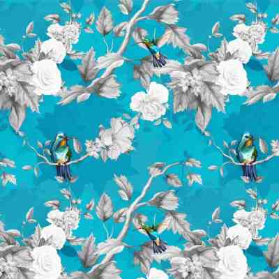 Floral Bird Window Blinds