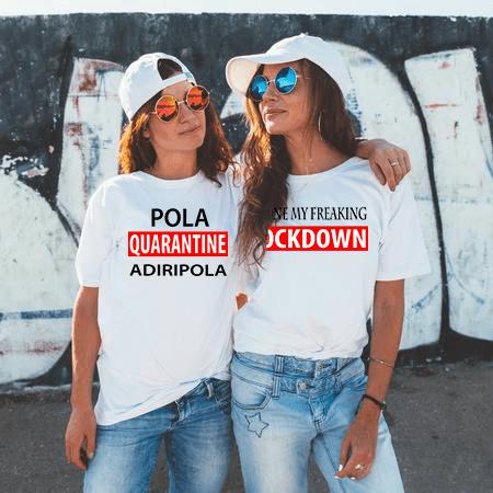 Quarantine Adiripola White Color Graphic Printed T shirt