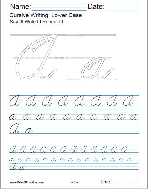 Cursive Writing Practice Book Free Download : cursive, writing, practice, download, Cursive, Writing, Worksheets, Alphabet, Letters,, Sentences,, Advanced