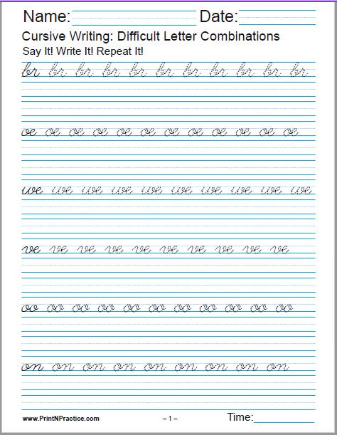 Handwriting Worksheets Pdf Grade 2 : handwriting, worksheets, grade, Cursive, Writing, Worksheets, Alphabet, Letters,, Sentences,, Advanced