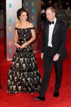 Catherine, Duchess of Cambridge in Alexander McQueen. BAFTAs 2017 Best Dressed. Image source: Vogue Australia.