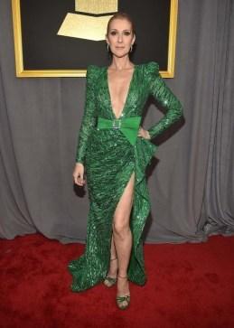 Celine Dion in Zuhair Murad. Grammys 2017. Image source: Vogue Australia