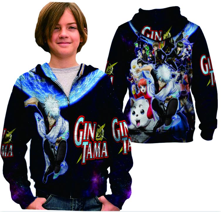 Gintama Hoodie Long Sleeves T Shirt - PrintOut Shop