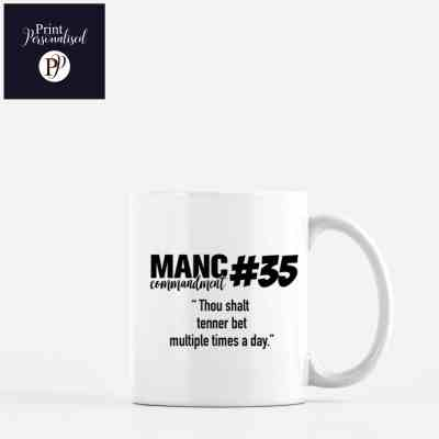 manc commandments mug