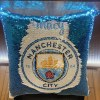 Manchester City Sequin Cushion