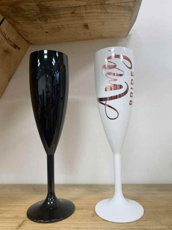 Designer Polycarbonate Champagne Flute and Tumblers