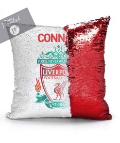 liverpool sequin cushion