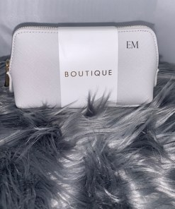 grey mini personalised make up bag