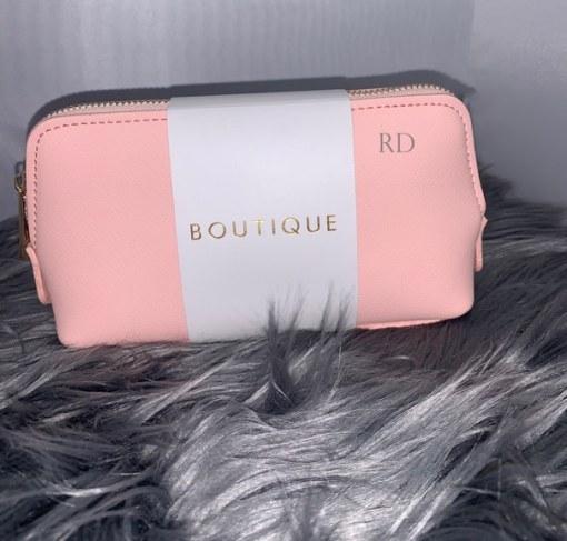 pink mini personalised make up bag