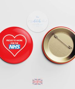 Proud to Work for the NHS Badge (National Health Service Badge)
