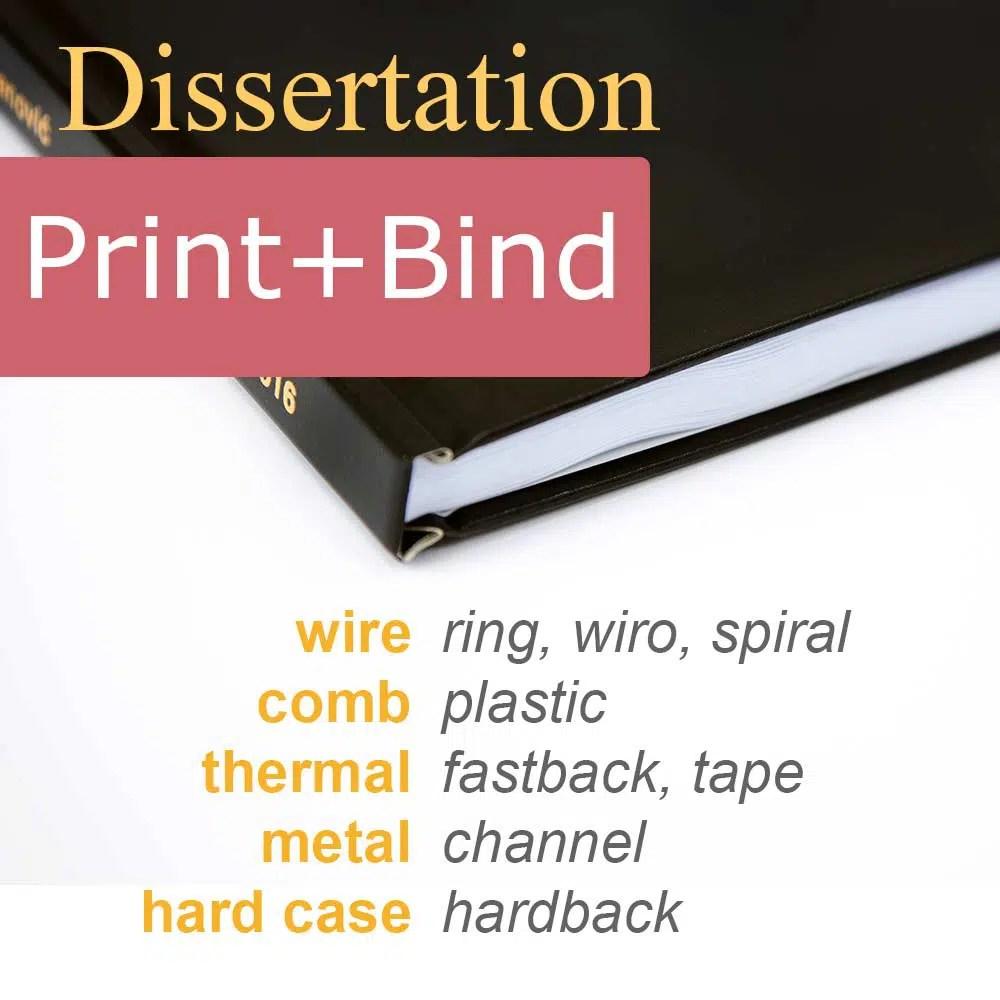 Print dissertation