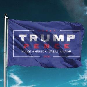Classic Blue Trump Flag