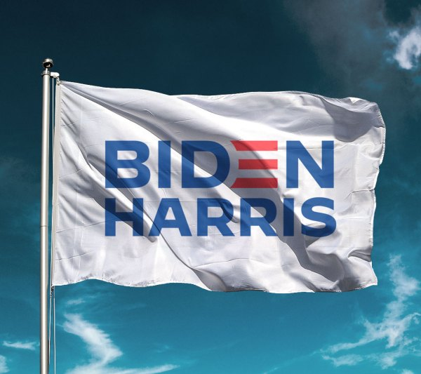 Classic White Biden Harris Flag