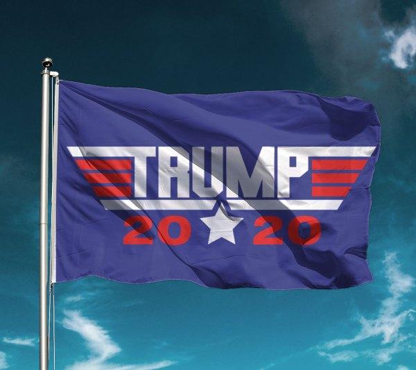 Top Gun Trump 2020 Flag