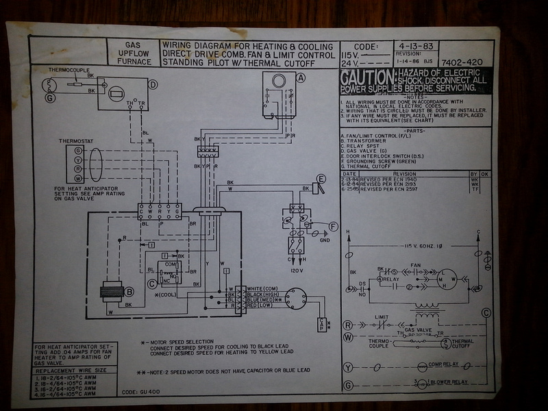 Hanging Furnace Wiring Diagram