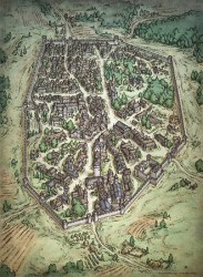 fantasy digital maps iconic prints schley mike mikeschley fortified illustration aerial