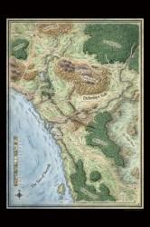 sword coast daggerford region map maps forgotten realms dragon queen hoard fantasy prints dnd print rpg starter dungeons dragons dungeon